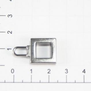 Язычок для молнии 15 мм оружейный металл