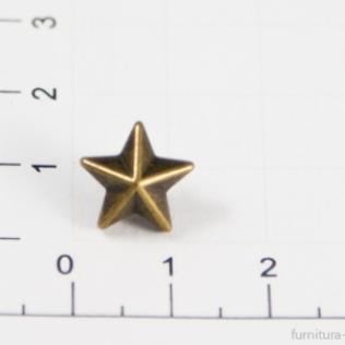 Заклепки звездочки 10 мм антик