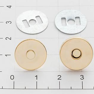 Магнит кнопка 14 мм золото