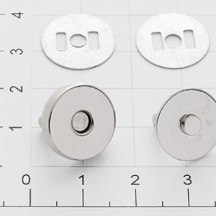 Магнит кнопка 14 мм никель