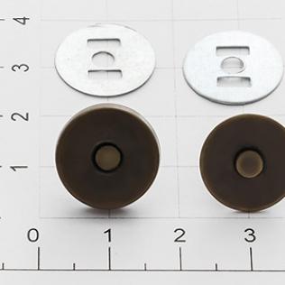 Магнит кнопка 14 мм антик