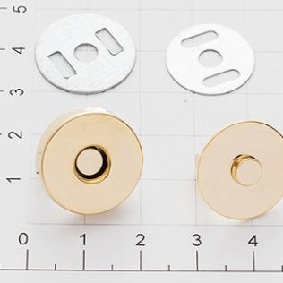 Магнит кнопка 18 мм золото