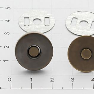Магнит кнопка 18 мм антик