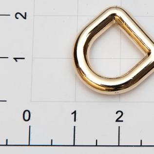 Полукольцо для сумок 10 мм золото
