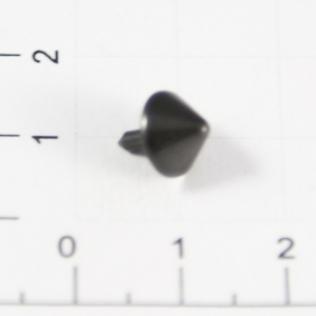 Заклепки конус 9 мм черный металл