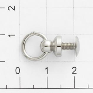 Кнопка кобурная с кольцом 8 мм никель