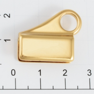 Держатель для карабина h-25 мм 7 мм золото