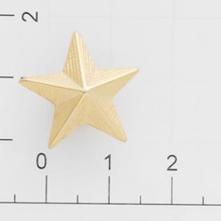 Заклепки звездочка 20 мм золото