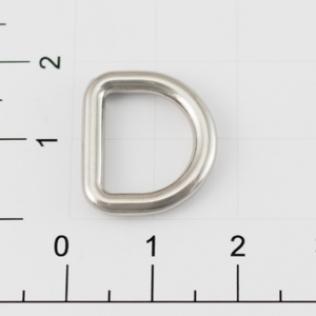 Полукольцо для сумок 12 мм никель