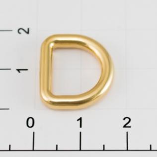 Полукольцо для сумок 12 мм золото