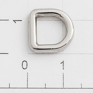 Полукольцо для сумок 8 мм никель