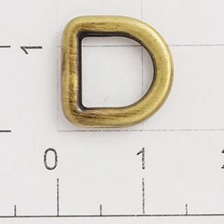 Полукольцо для сумок 8 мм антик светлый