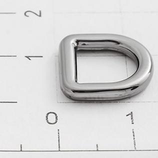 Полукольцо для сумок 8 мм оружейный металл