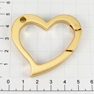 Карабин сердце 56 мм золото