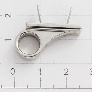 Ручкодержатель для карабина 25 мм никель