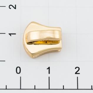 Бегунок для металлической молнии Т-5 5 мм золото