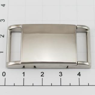 Магнитная застежка для ремней L-48 20 мм никель
