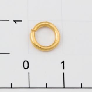 Кольцо h-1,5 5 мм золото