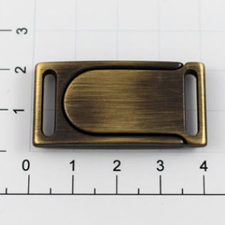 Магнитная застежка для ремней L-40 15 мм антик
