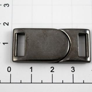 Магнитная застежка для ремней L-35 10 мм оружейный металл