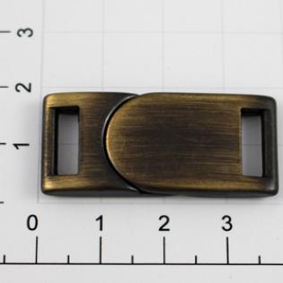 Магнитная застежка для ремней L-35 10 мм антик