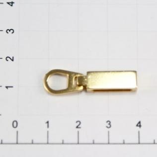Язычок для молнии 20 мм золото