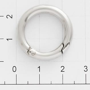 Кольцо карабин 16 мм никель