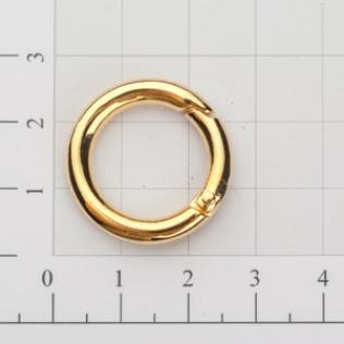Кольцо карабин 16 мм золото