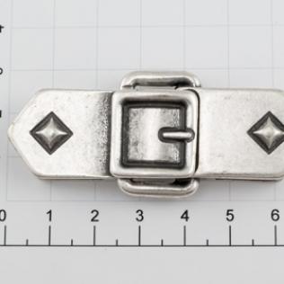 Пряжка для ремня 20 мм серебро черное (античное)