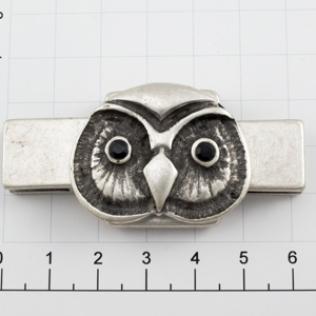 Пряжка для ремня 15 мм серебро черное (античное)