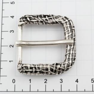 Пряжка для ремня 25 мм серебро черное (античное)