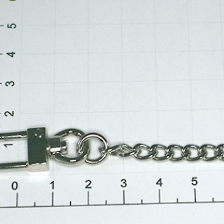 Цепочка для сумки с карабинами (тип 01), L-1250 5 мм никель
