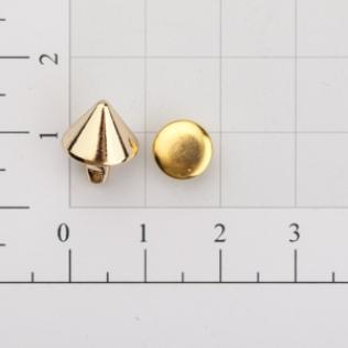 Заклепки конус 10 мм золото