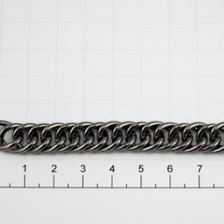 Цепочка для сумки (тип F17) 10 мм оружейный металл