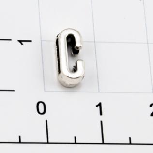 Буквы для наборных браслетов «C» 10 мм никель