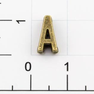 Буквы для наборных браслетов «A» 10 мм антик