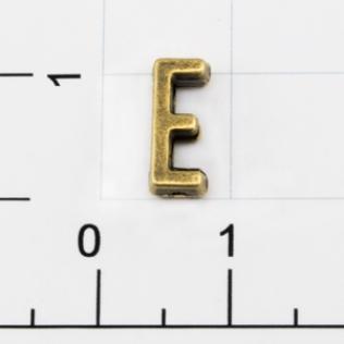 Буквы для наборных браслетов «E» 10 мм антик