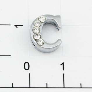 Буквы для наборных браслетов «C» 12 мм никель