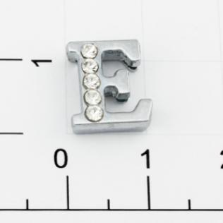 Буквы для наборных браслетов «E» 12 мм никель