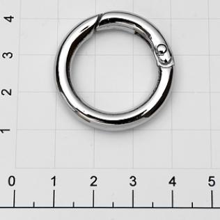 Кольцо карабин 22 мм никель