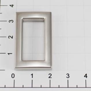 Рамка 25 мм никель