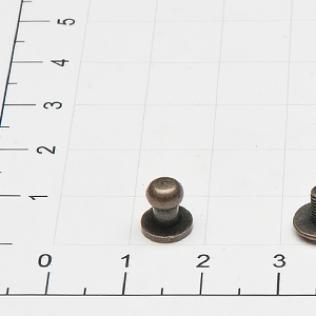 Кобурная кнопка винт 5 мм антик