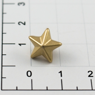 Заклепки звездочки 10 мм золото