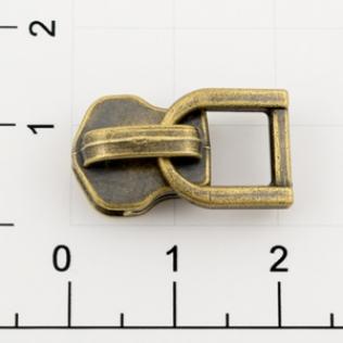 Бегунок для металлической молнии Т-5 5 мм антик