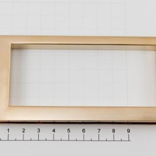 Ручка для сумки прямоугольная 120 мм золото